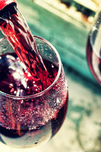 Red Wine List in Barry's of Douglas Restaurant
