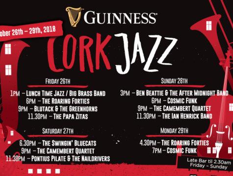Barrys of Douglas Bar & Restaurant Cork Jazz Weekend Lineup